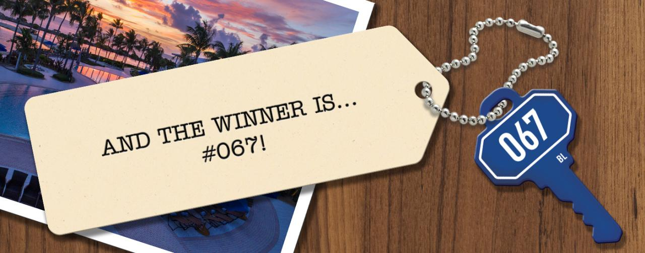 And the winner is... #067