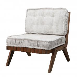 Lounge chair angled wood frame hotel furniture