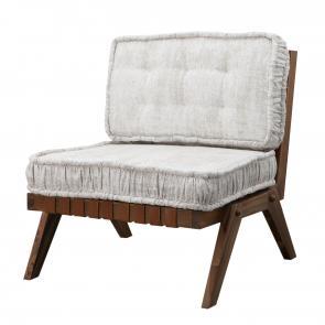 Lounge chair angled wood frame hotel furniture