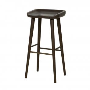 dark mahogany frame backless bar stool