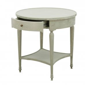 white oak wood round side table hotel furniture