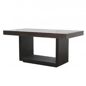 Oak wood and veneer medium dining table hotel furniture