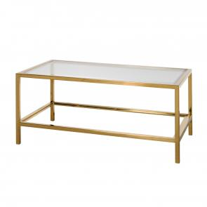 Brass and glass coffee table restaurant furniture