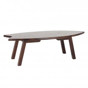 Walnut wood surfboard table hotel furniture