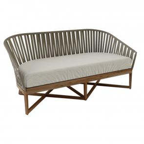 Tinde sofa with teak frame hotel furniture