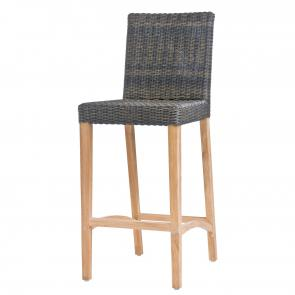 Outdoor barstool teak frame restaurant furniture front