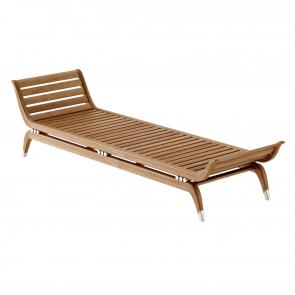 Solid teak art deco lounger hotel furniture