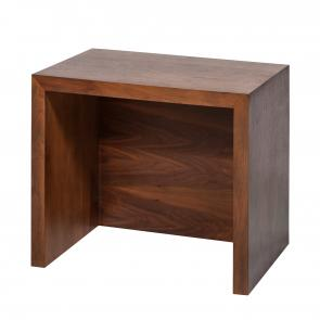 Walnut straight grain night table hotel furniture