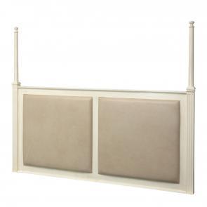 oak, wood veneer headboard with upholstered panels hotel furniture