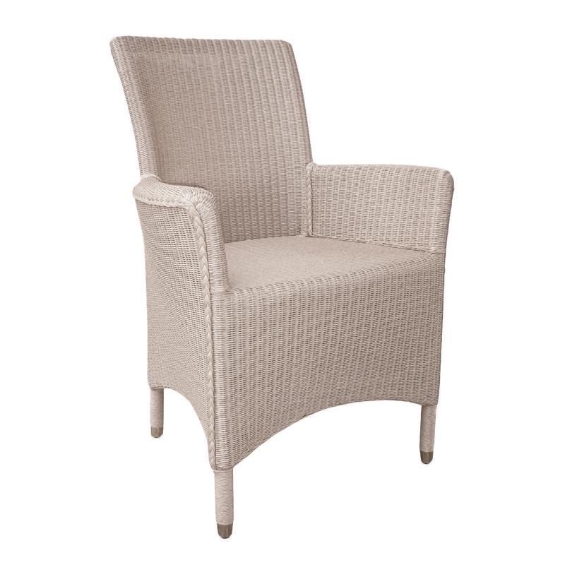Sylvia wicker dining chair hotel furniture