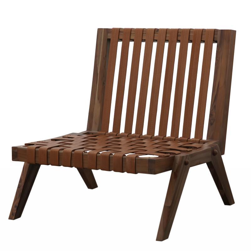 Lounge chair angled wood frame no cushion hotel furniture
