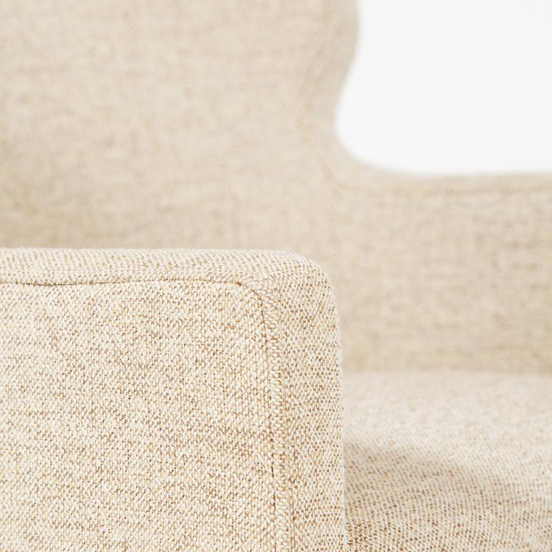 fully upholstered tub dining chair detail