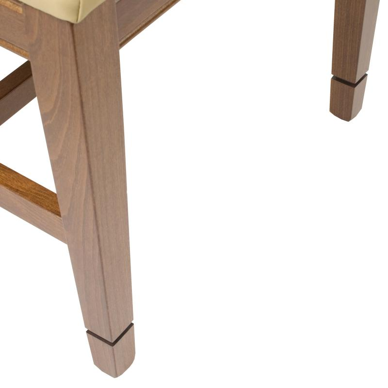 available casters on wood frame contemporary side chair