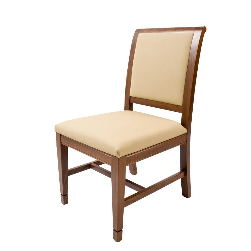 wood frame contemporary side chair with window pane back