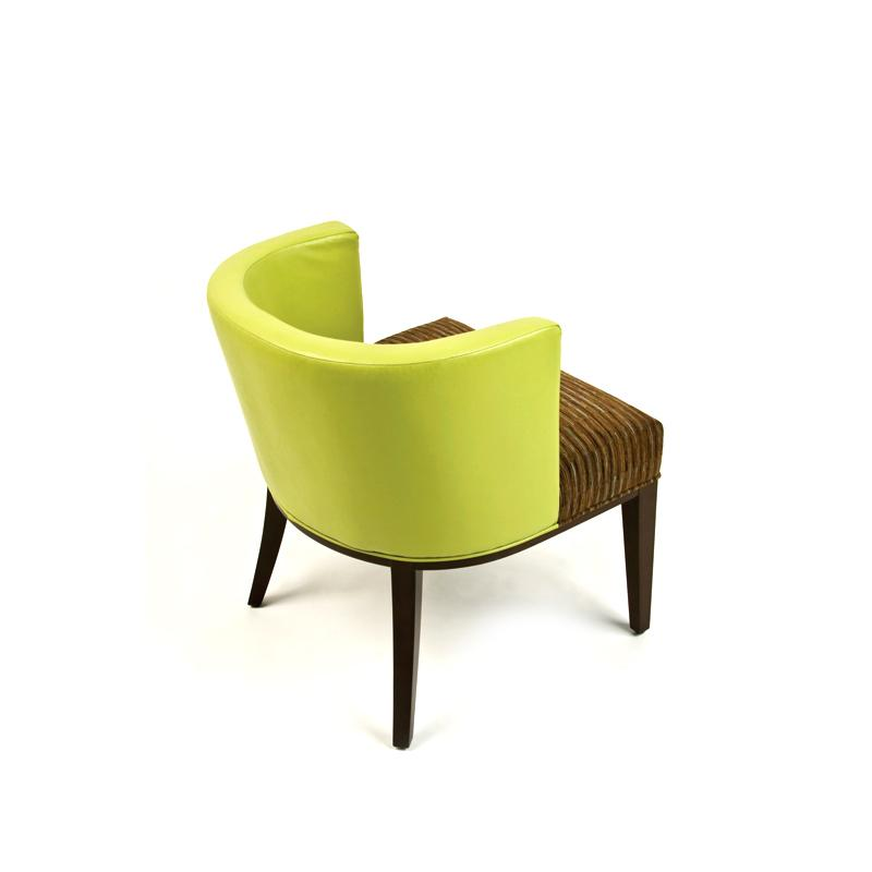 Fully upholstered contemporary arm chair back hotel furniture