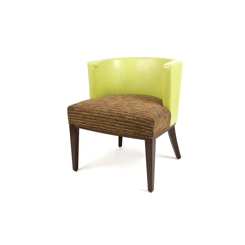 Fully upholstered contemporary arm chair hotel furniture