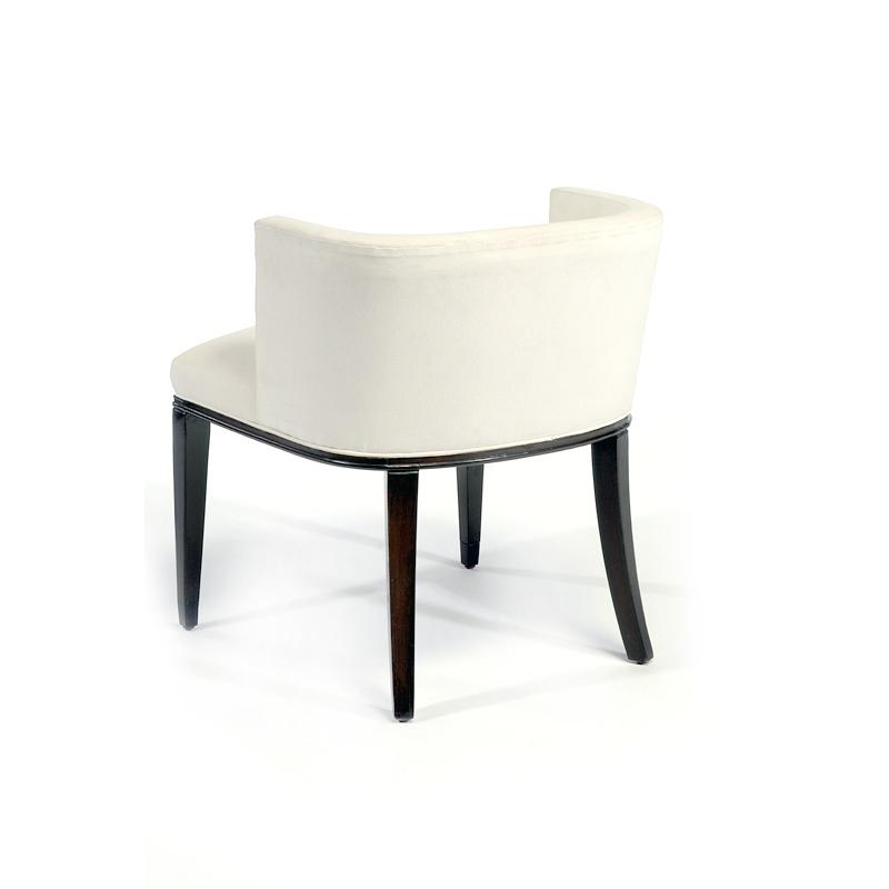 Fully upholstered contemporary arm chair white back hotel furniture
