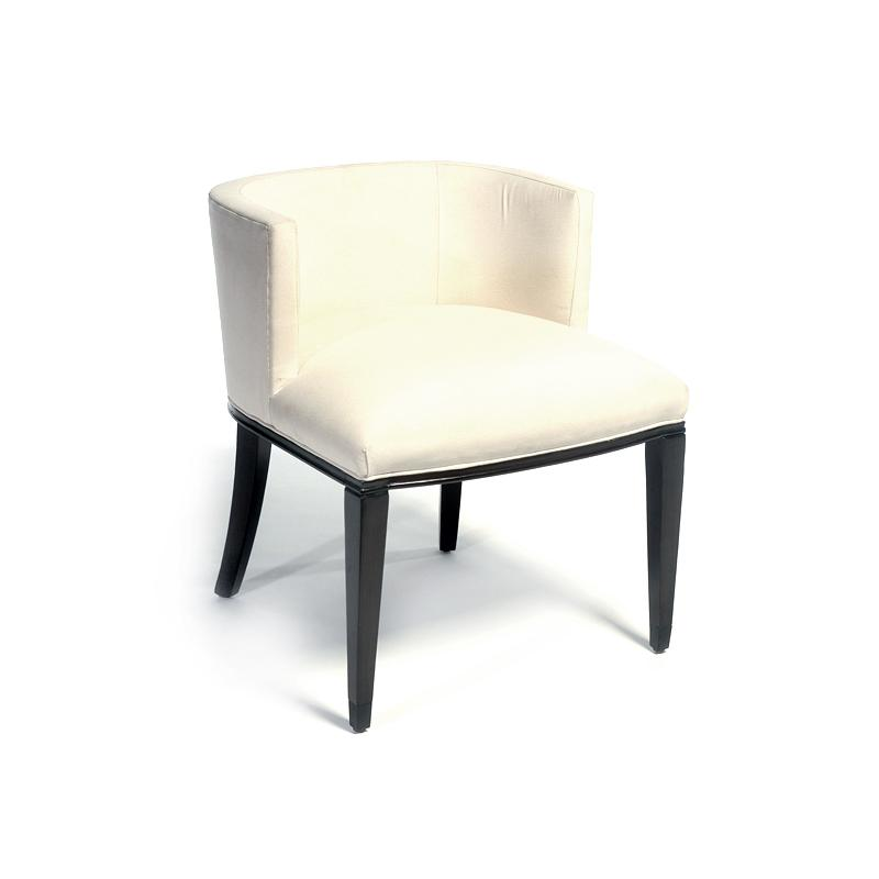 Fully upholstered contemporary arm chair white hotel furniture