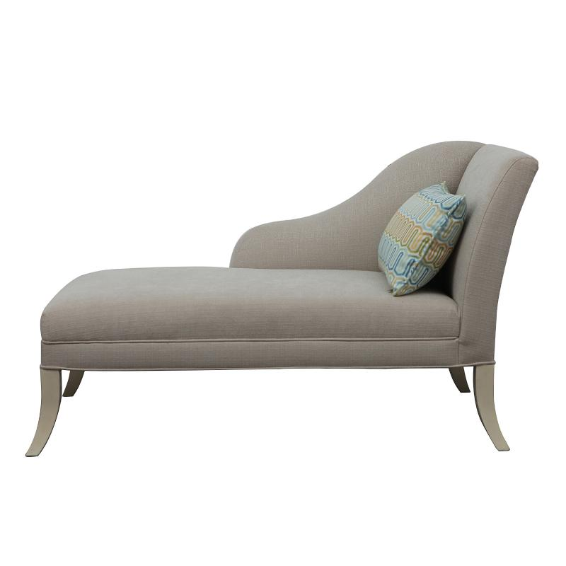 Chaise lounge with tapered wood legs side hotel furniture