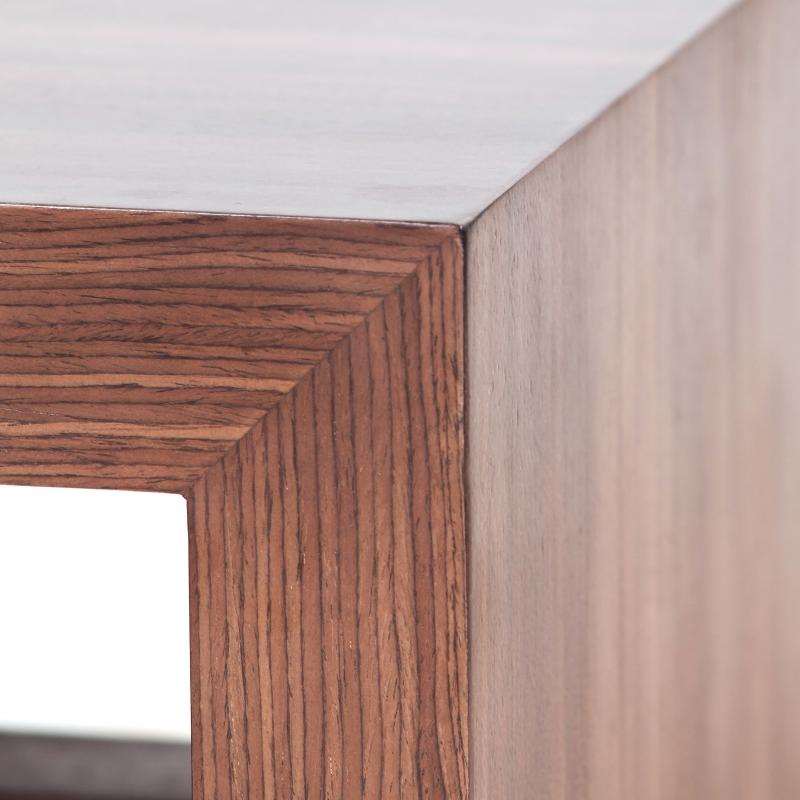 Walnut wood bench detail hotel furniture