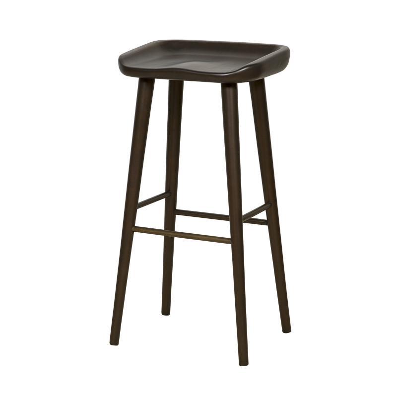 dark mahogany frame backless bar stool