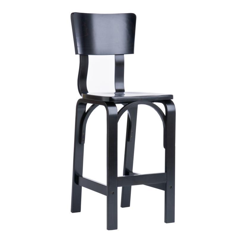 Ebony barstool bent plywood hotel furniture
