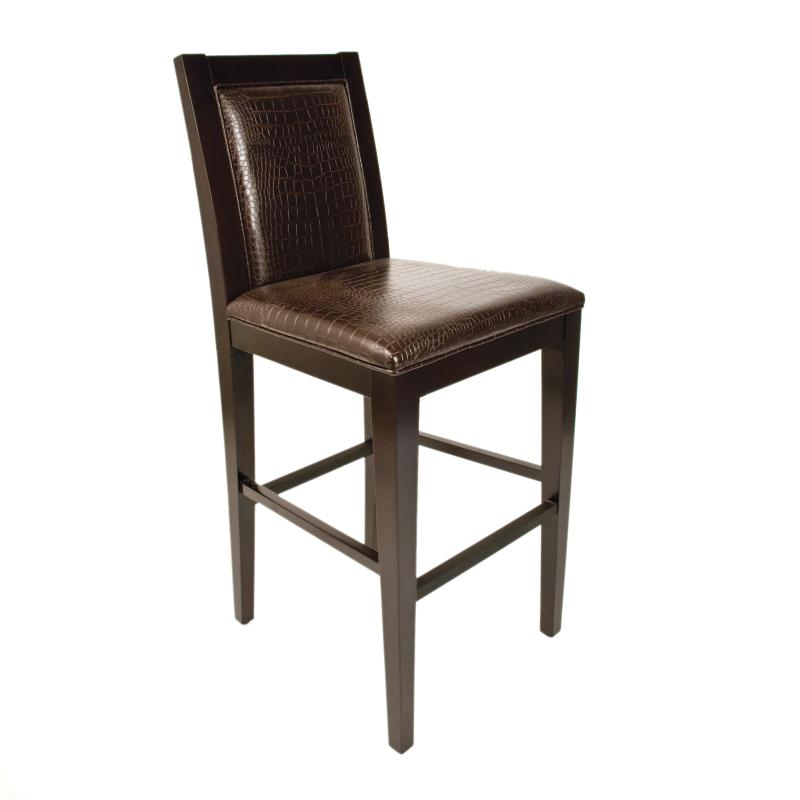 Dark wood frame barstool hotel furniture