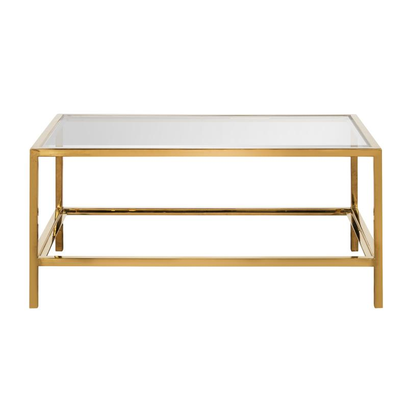 Brass and glass coffee table hotel furniture