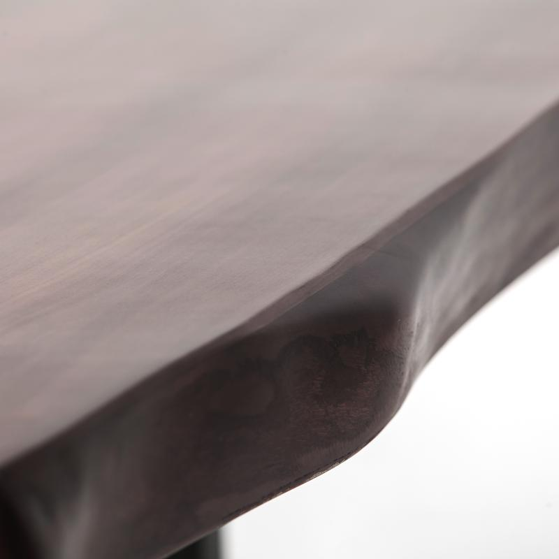 Walnut dining table live edge hotel furniture