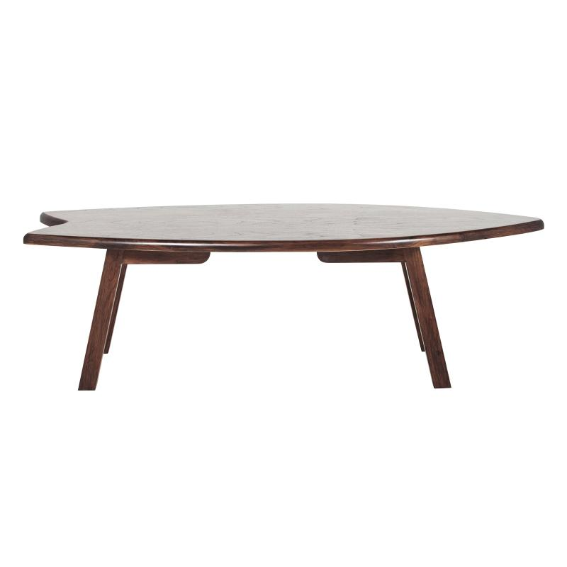 Surfboard table walnut wood base hotel furniture