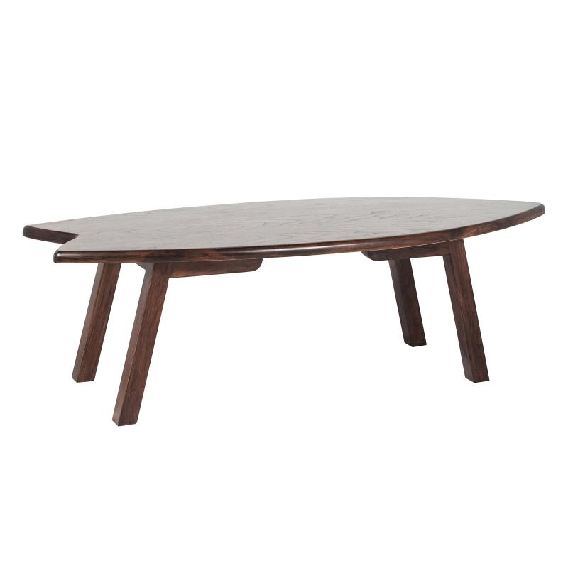 Walnut wood surfboard table hotel furniture