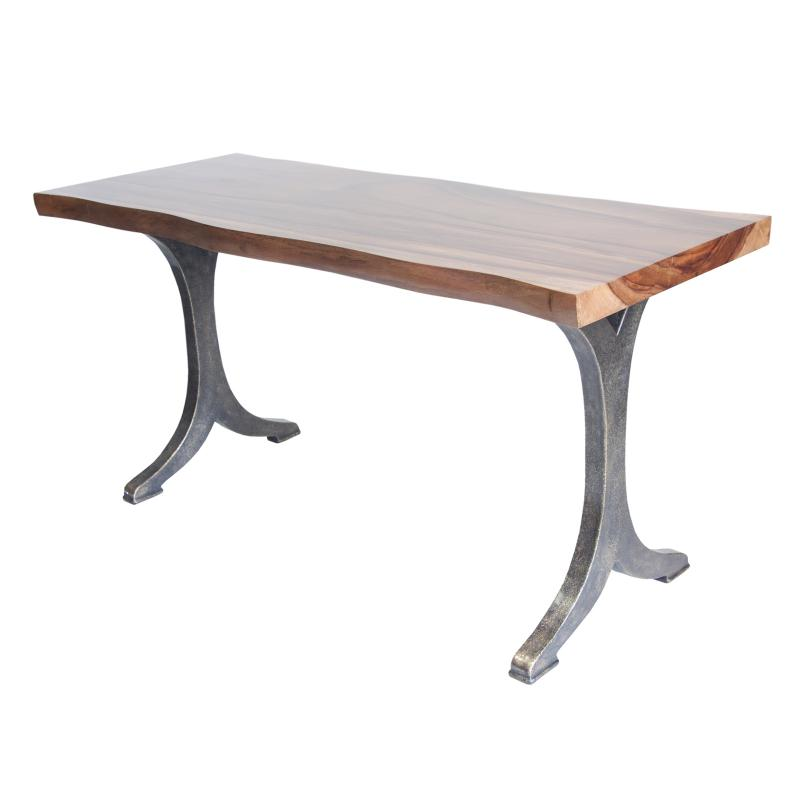 Dining table with live edge hotel furniture
