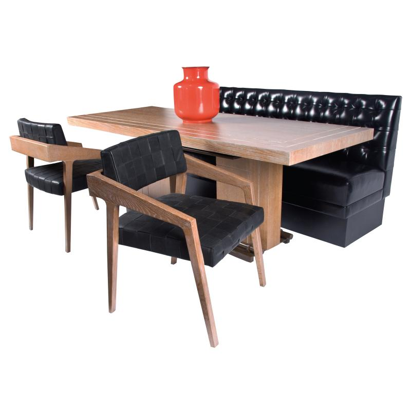cerrused oak dining table hotel furniture