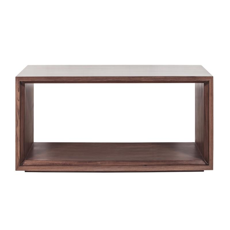 Walnut wood coffee table front hotel furniture