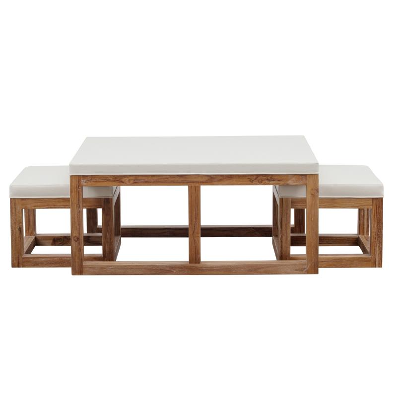 Coffee table ottoman and stools hotel furniture