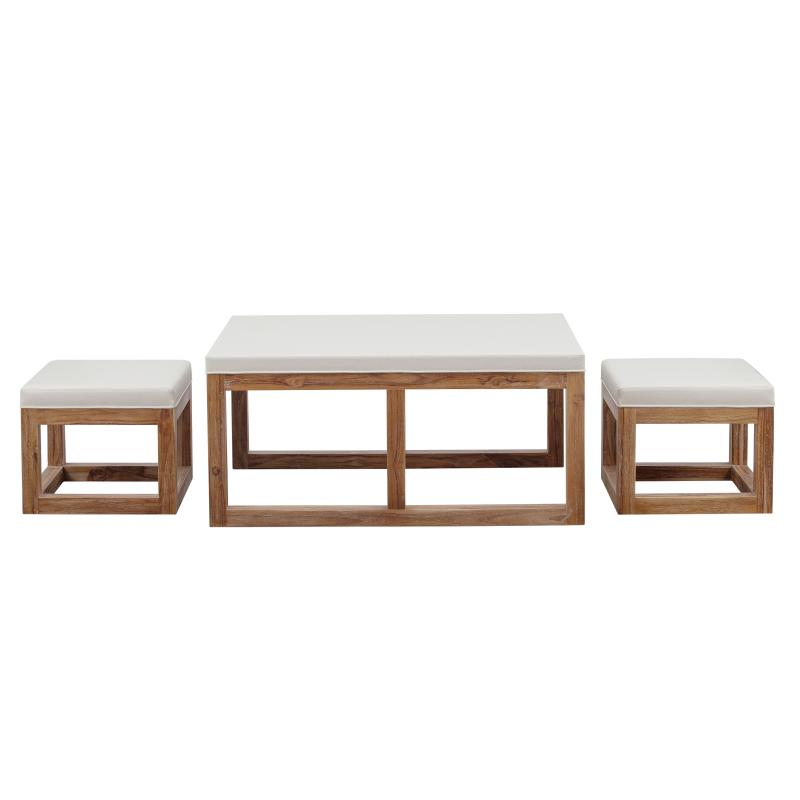 Upholstered coffee table ottoman and stools hotel furniture