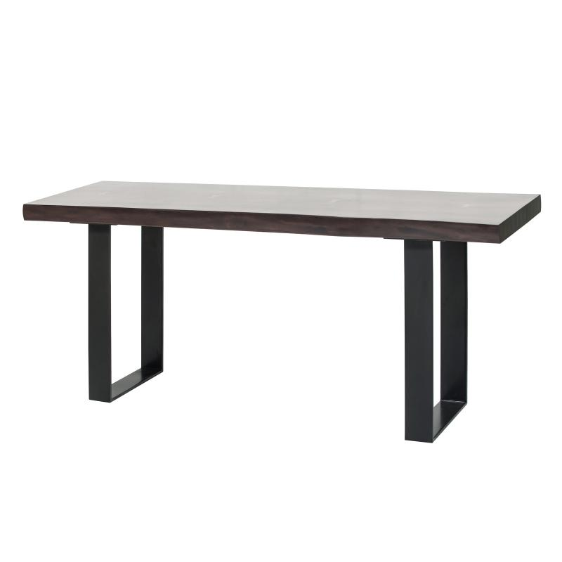 Walnut wood coffee table steel base side hotel furniture
