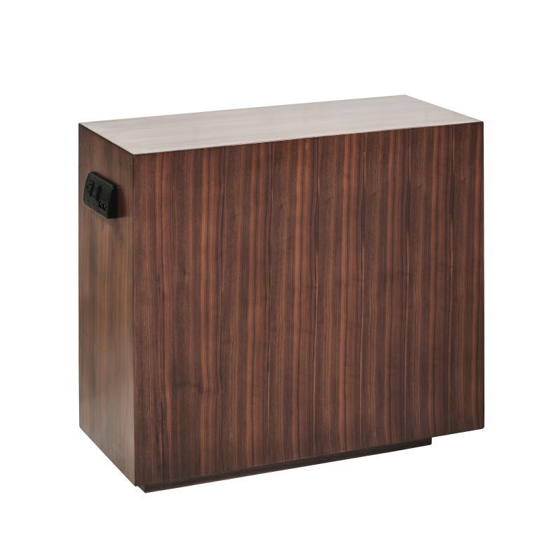 Walnut wood side table hotel furniture