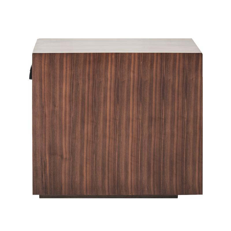 Walnut wood side table side view hotel furniture