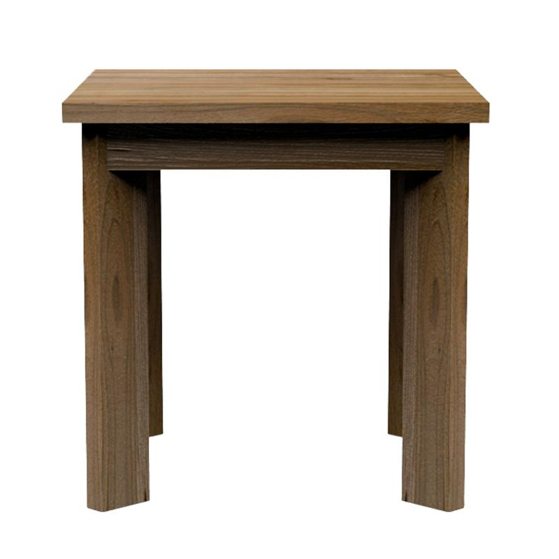brown wood solid teak side table restaurant & hotel furniture