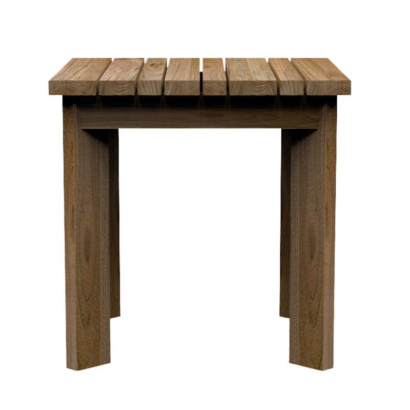 solid teak side table hotel & restaurant furniture