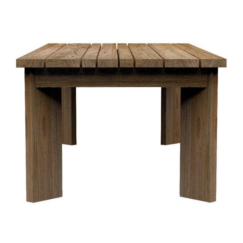 solid teak wood coffee table front hotel and restaurant furniture