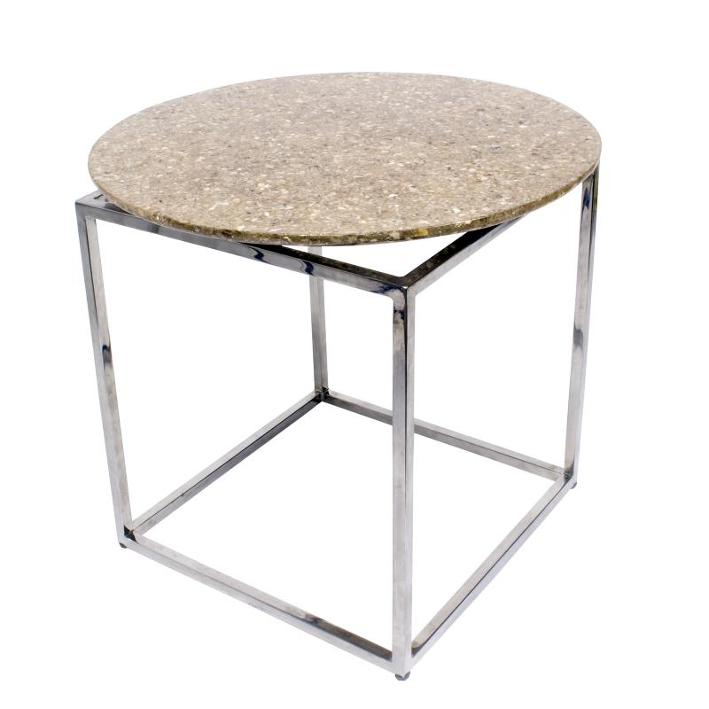 Crushed capiz shell end table hotel furniture