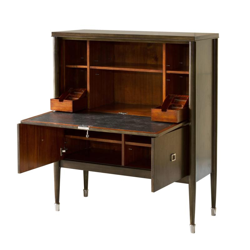 drop down secretary wood desk opened up