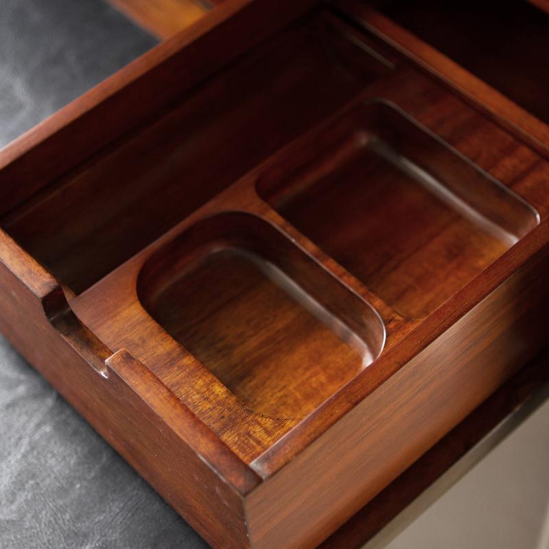 drop down wooden secretary desk open cubby