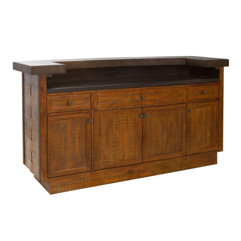 Wood bar stone counter top hotel furniture