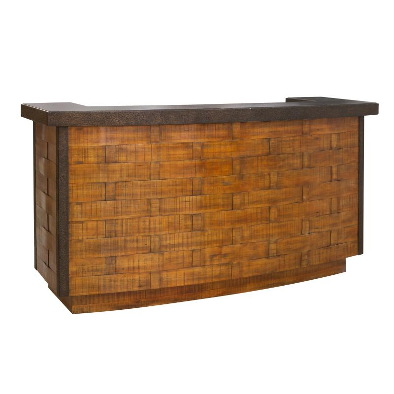 Wood bar stone counter top front hotel furniture