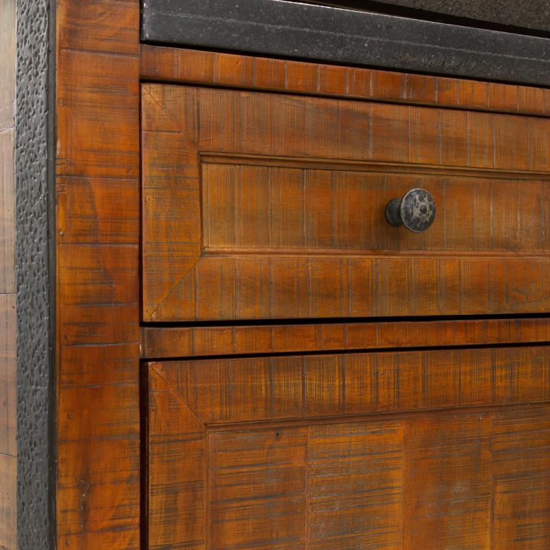 Wood bar stone counter top detail hotel furniture