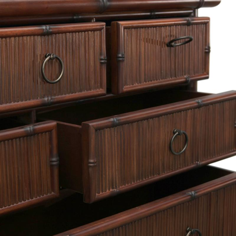 Pencil rattan reed chest of drawers detail hotel furniture