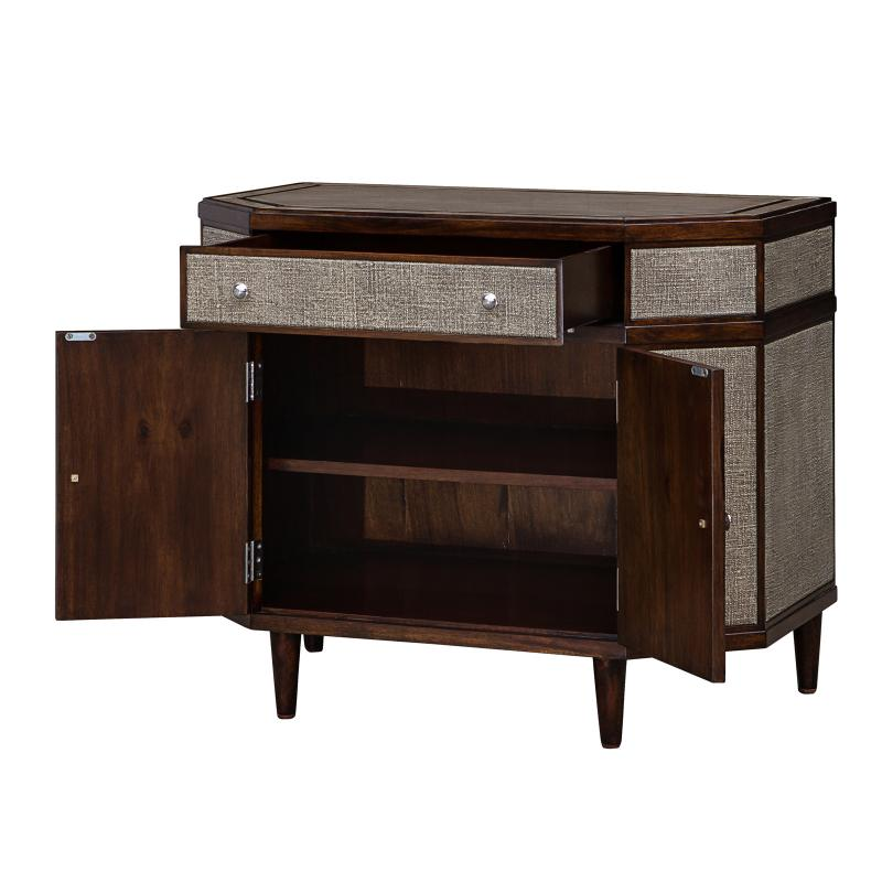 Faux linen resin chest open hotel furniture
